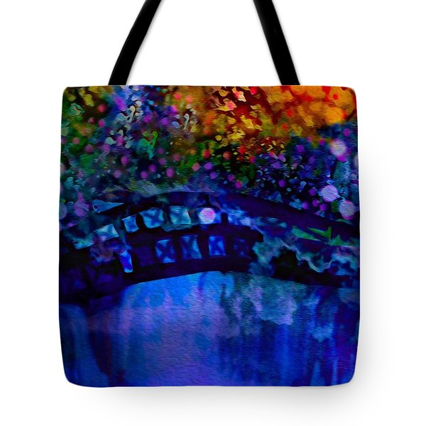 Tote Bag featuring the painting Cross Over The Bridge by Sherri  Of Palm Springs