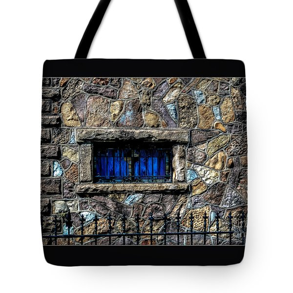 Tote Bag featuring the photograph Cross Stained Glass Window by Brenda Bostic