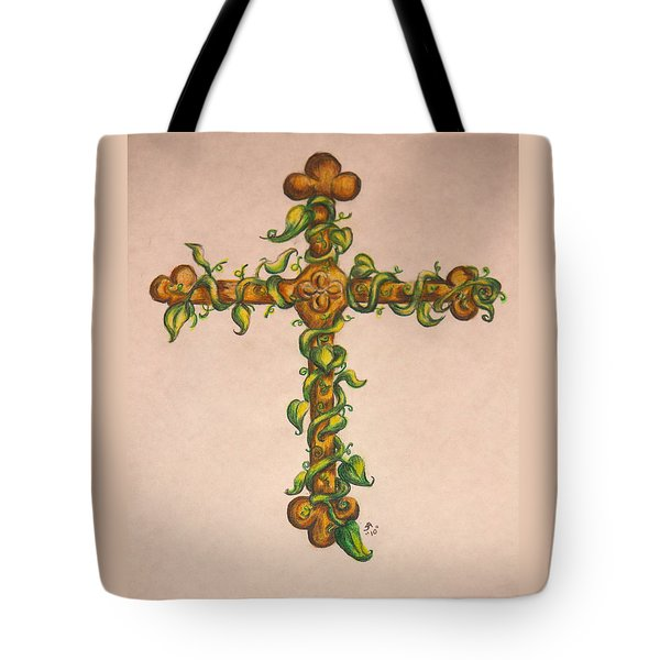 Cross With Ivy Tote Bag
