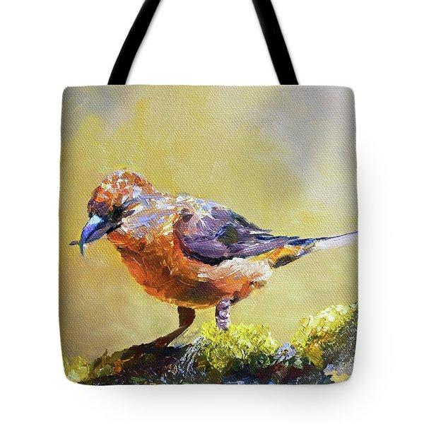 Crossbill Tote Bag by Jan Hardenburger