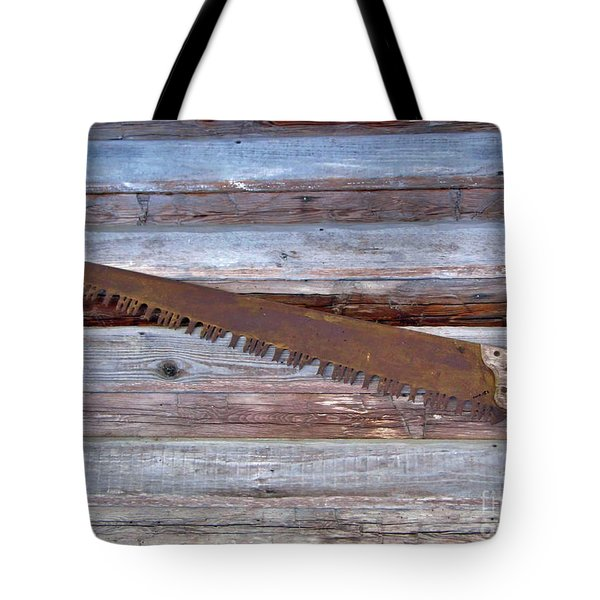 Crosscut Saw Tote Bag