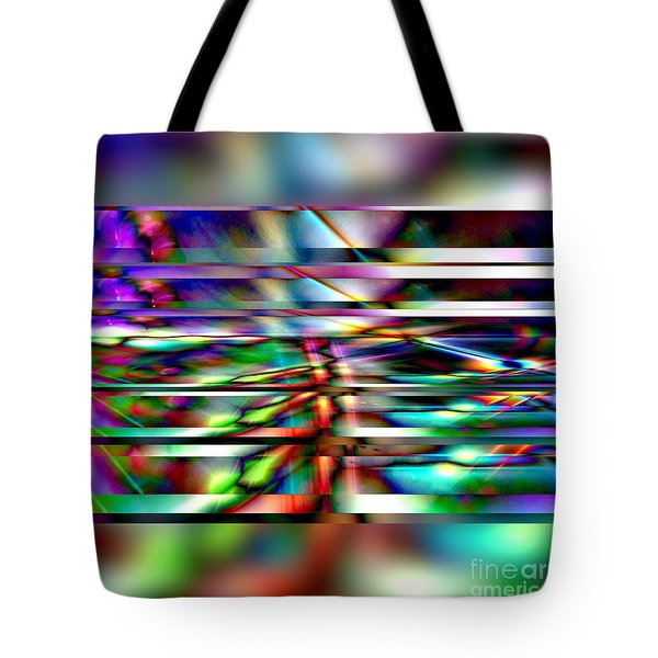 Tote Bag featuring the digital art Crossed Absrtact by Gayle Price Thomas