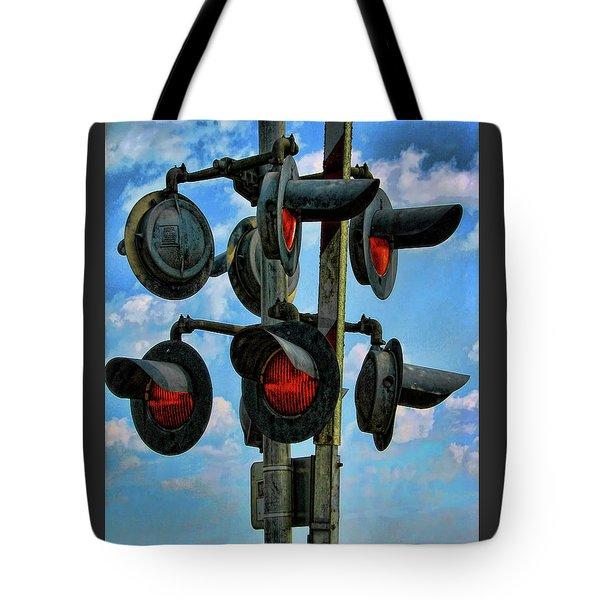Crossed Signals Tote Bag