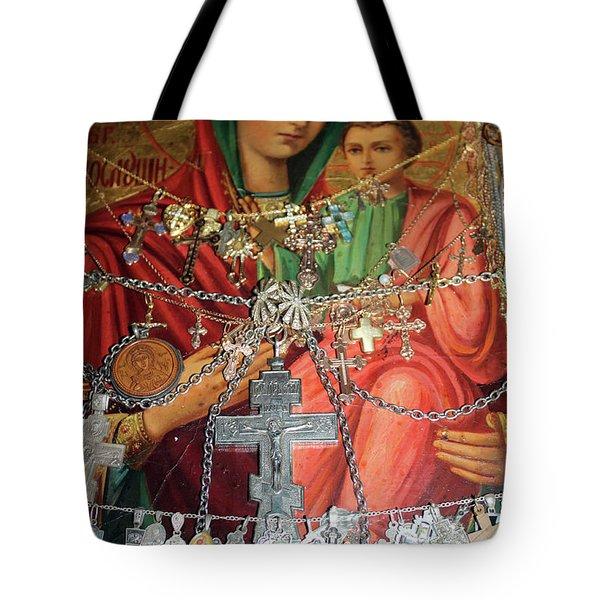 Crosses Tote Bag by Munir Alawi