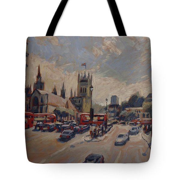 Crossing At Westminster Tote Bag