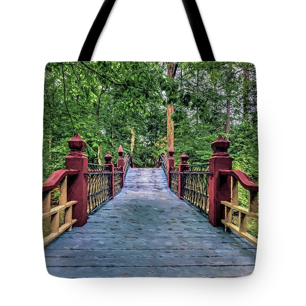 Tote Bag featuring the photograph Crossing Crim Dell In Spring by Jerry Gammon