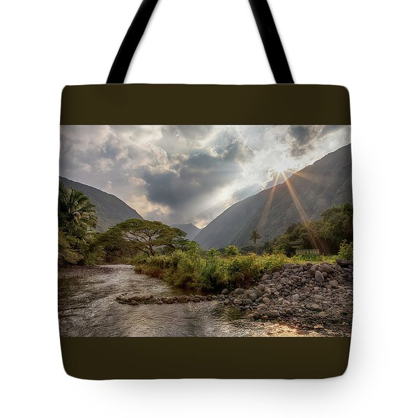 Crossing Hiilawe Stream Tote Bag