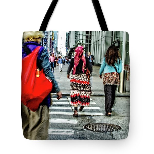 Tote Bag featuring the photograph Crossing by Karol Livote