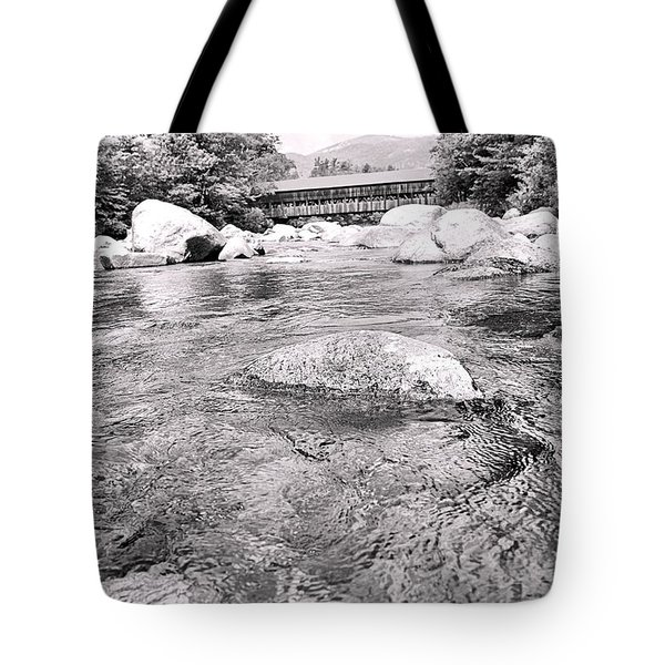 Crossing Nature In Black And White Tote Bag