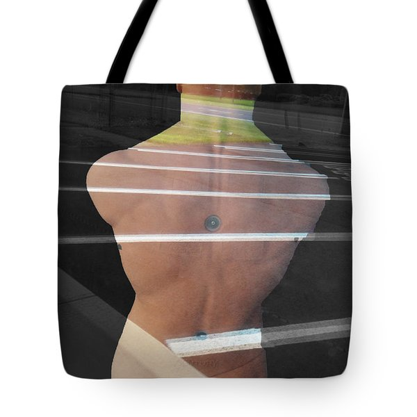 Tote Bag featuring the photograph Crossing Over by Lyric Lucas