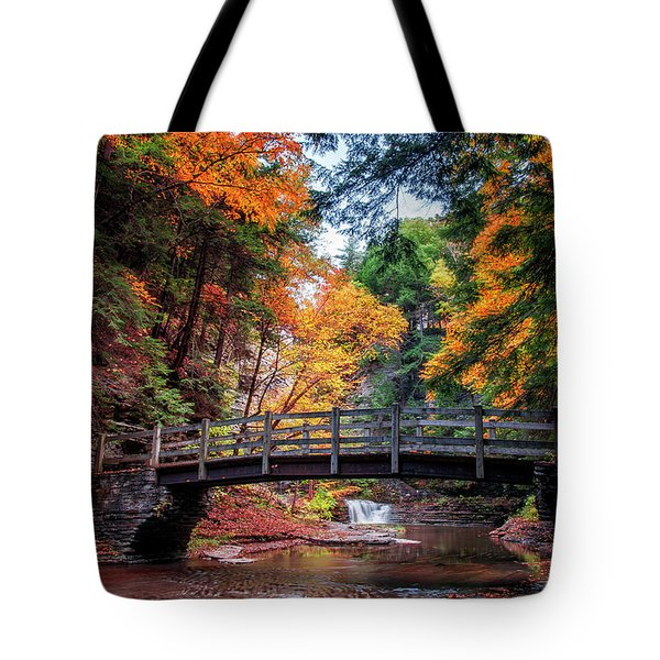 Crossing Over Tote Bag by Mark Papke