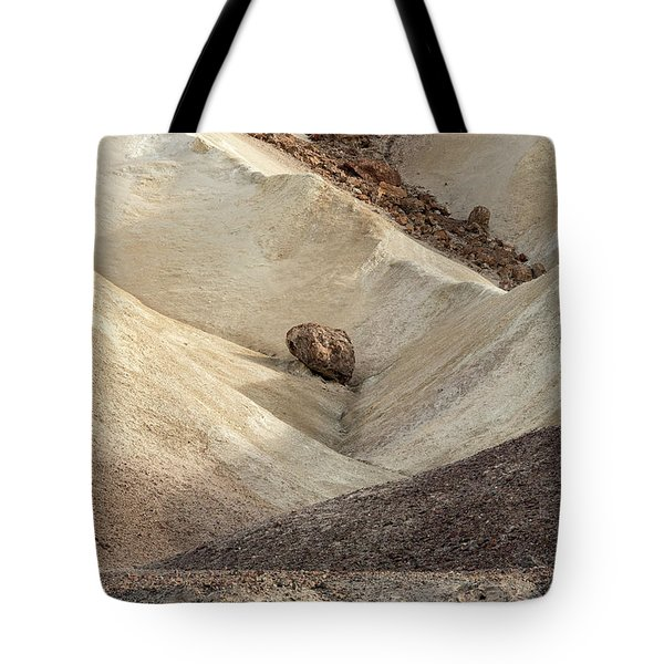 Tote Bag featuring the photograph Crossing Paths - Death Valley by Sandra Bronstein