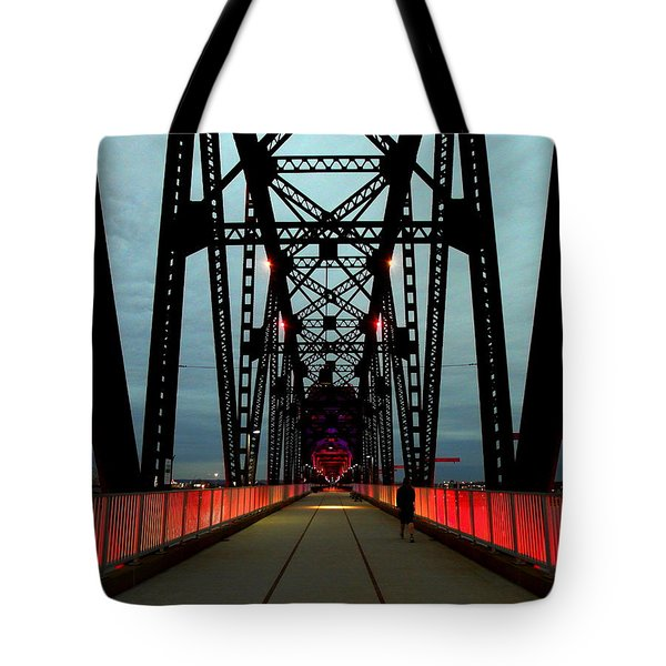 Crossing The Bridge Tote Bag