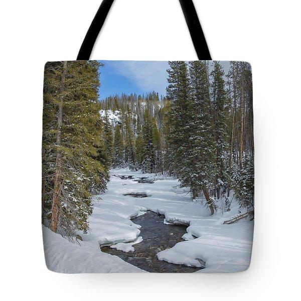 Crossing The Elk Tote Bag