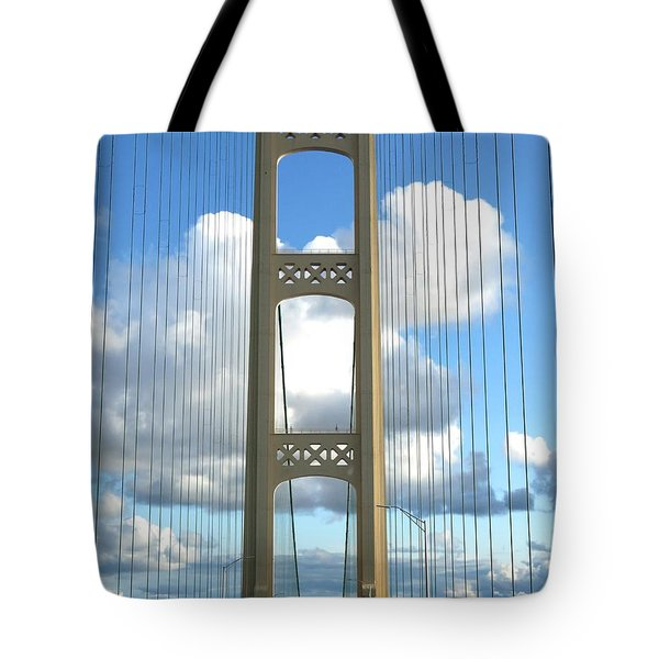 Crossing The Mighty Mac Tote Bag