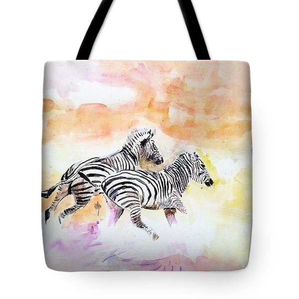 Crossing The River. Tote Bag