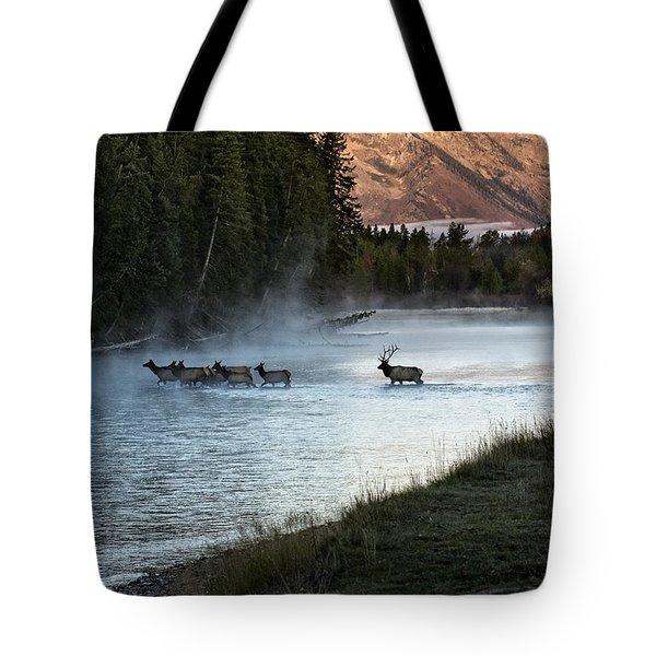 Crossing The River Tote Bag