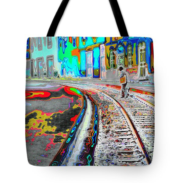 Crossing The Tracks Tote Bag