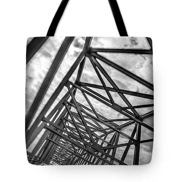 Crossing Through The Chesapeake Bay Bridge Tote Bag