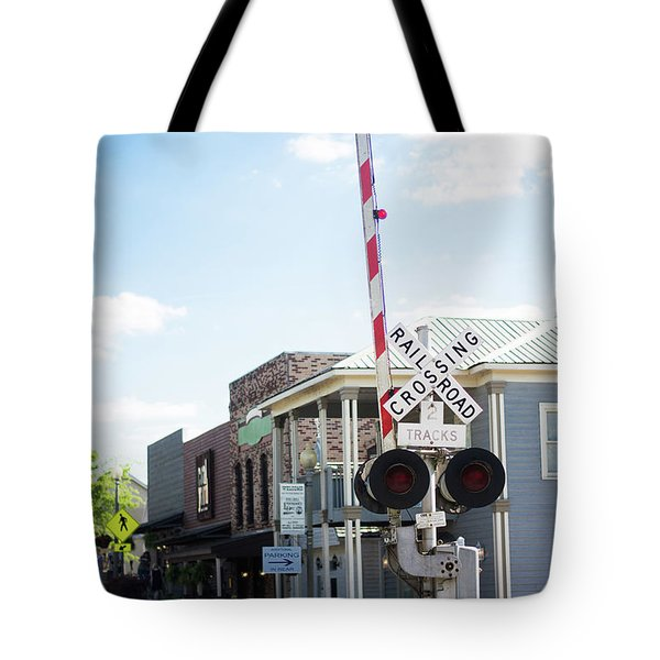 Tote Bag featuring the photograph Crossings In Old Town Helena by Parker Cunningham