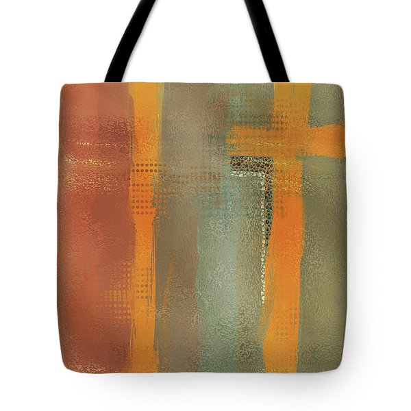 Tote Bag featuring the mixed media Crossroads by Eduardo Tavares