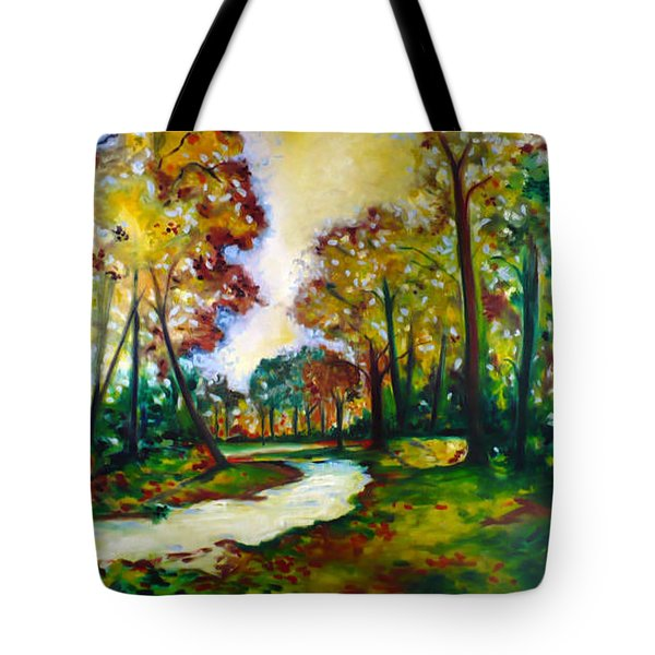 Tote Bag featuring the painting Crossroads by Emery Franklin