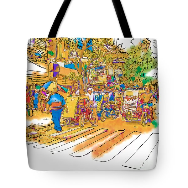Crosswalk In The Philippines Tote Bag