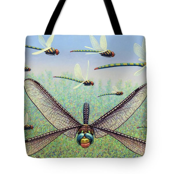 Tote Bag featuring the painting Crossways by James W Johnson