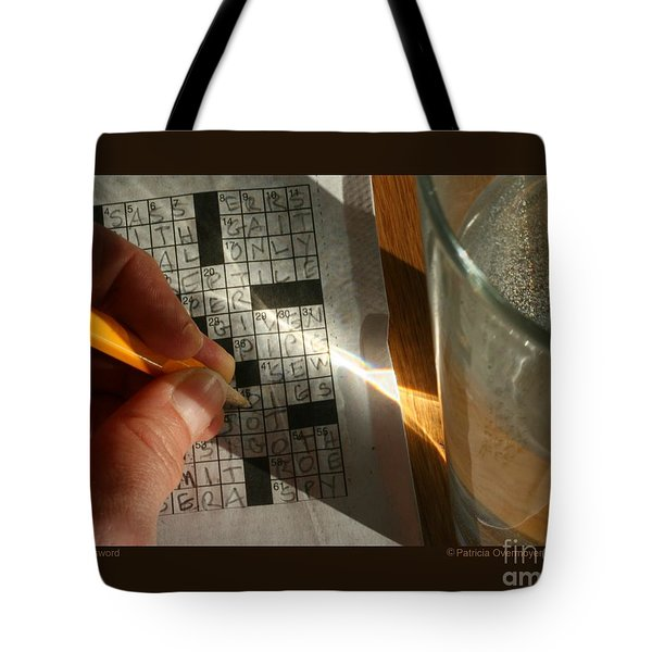 Tote Bag featuring the photograph Crossword by Patricia Overmoyer
