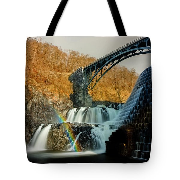 Croton Dam Rainbow Spray Tote Bag