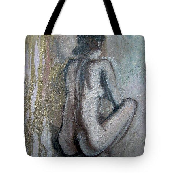 Crouching Nude Tote Bag