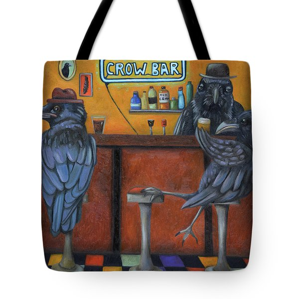 Crow Bar Tote Bag by Leah Saulnier The Painting Maniac