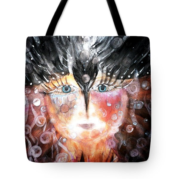 Crow Child Tote Bag