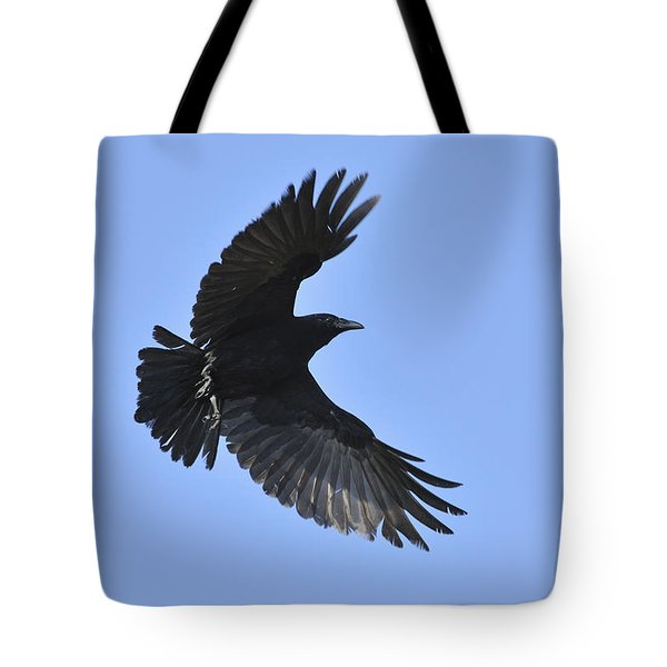Crow In Flight Tote Bag