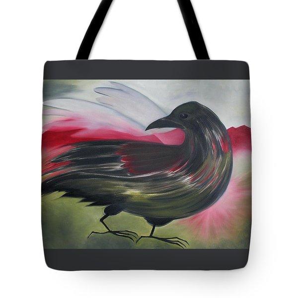 Crow Tote Bag by Karen MacKenzie
