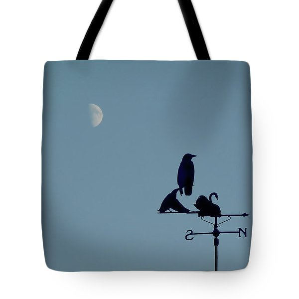 Tote Bag featuring the photograph Crow On Weathervane by Valerie Anne Kelly