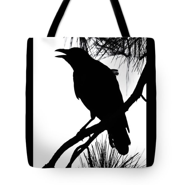 Crow Silhouette Tote Bag by Patricia Schaefer