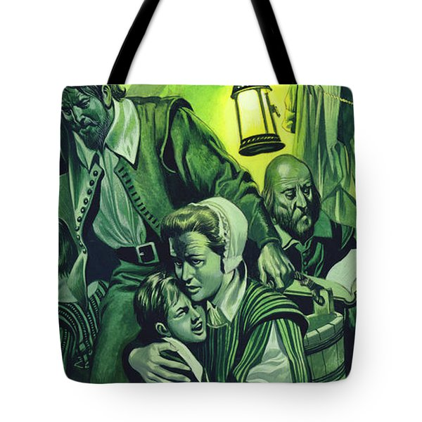 Crowded Conditions On The Mayflower Tote Bag