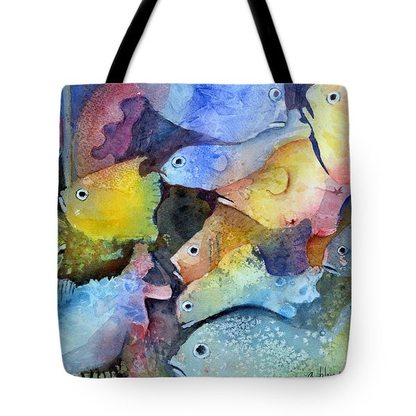 Crowded Space Tote Bag by Arline Wagner