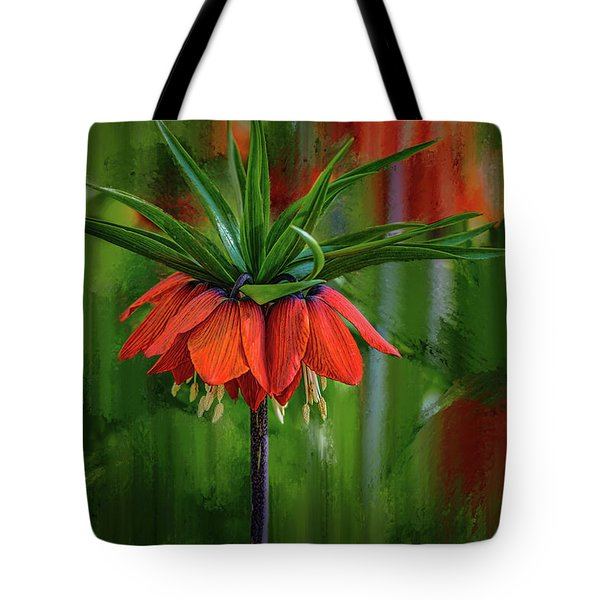 Tote Bag featuring the photograph Crown-imperial Abstract #h5 by Leif Sohlman