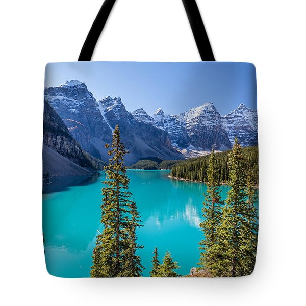 Crown Jewel Of The Canadian Rockies Tote Bag