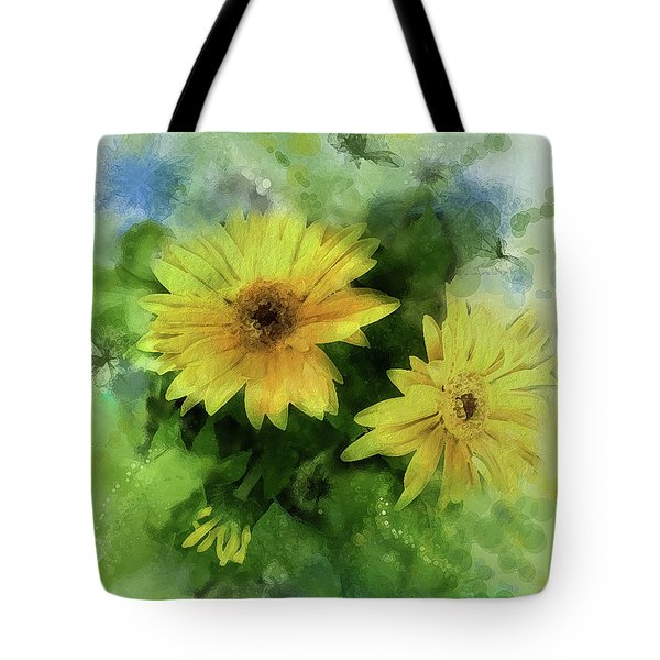 Tote Bag featuring the digital art Crown Jewels by Gina Harrison