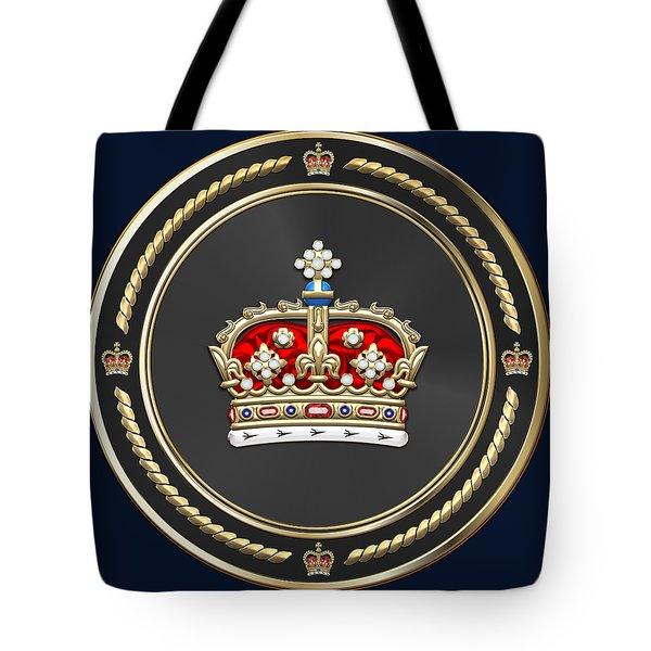 Crown Of Scotland Over Blue Velvet Tote Bag