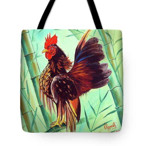 Crown Of The Serama Chicken Tote Bag by Ragunath Venkatraman