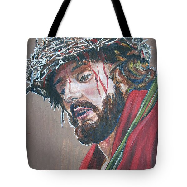 Tote Bag featuring the painting Crown Of Thorns by Bryan Bustard
