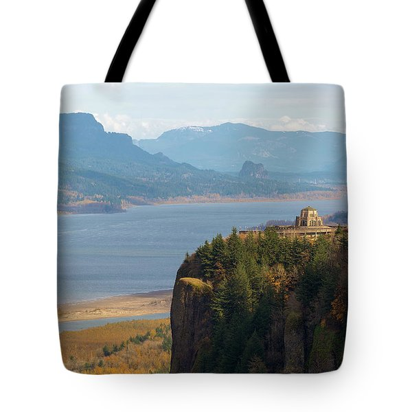 Crown Point On Columbia River Gorge Tote Bag