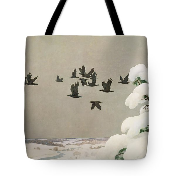 Crows In Winter Tote Bag by Newell Convers Wyeth