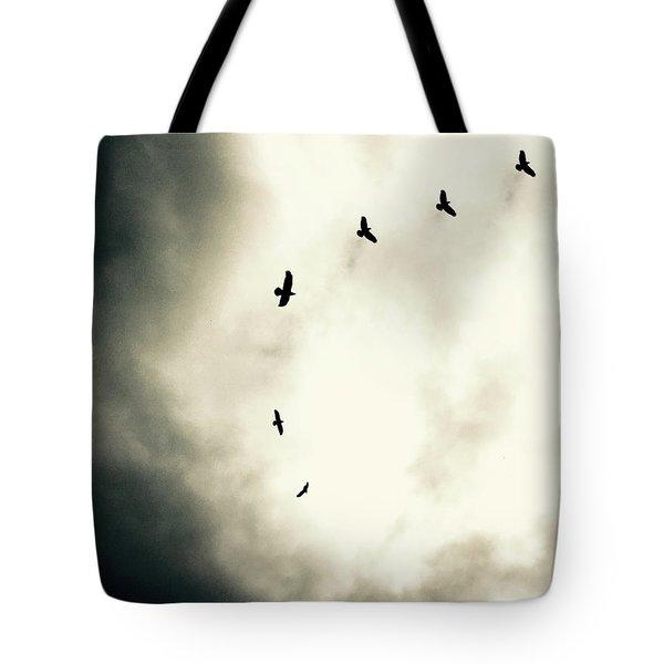 Crows On Christmas Eve 1 Tote Bag
