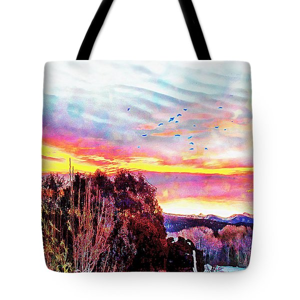 Tote Bag featuring the photograph Crows Over Pre Dawn El Valle by Anastasia Savage Ealy
