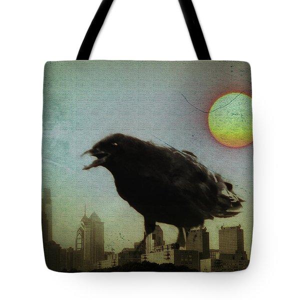 Crowzilla Tote Bag by Bill Cannon